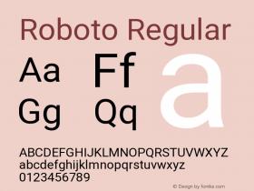 Roboto Version 2.138; 2017图片样张
