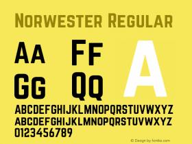 Norwester Regular Version 1.002;PS 001.002;hotconv 1.0.70;makeotf.lib2.5.58329图片样张