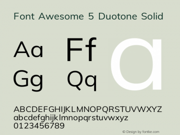 Font Awesome 5 Duotone Solid 331.008 (Font Awesome version: 5.13.0)图片样张