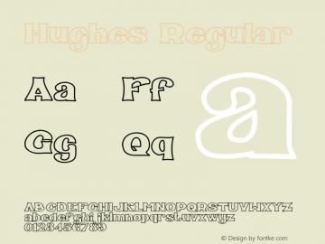 Hughes Version 1.001;Fontself Maker 1.1.1图片样张