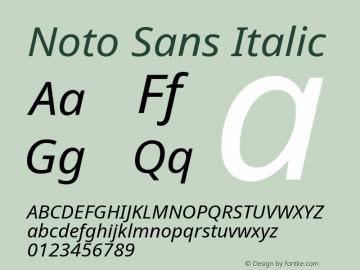 Noto Sans Italic Version 2.003图片样张