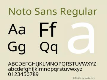Noto Sans Regular Version 2.003图片样张