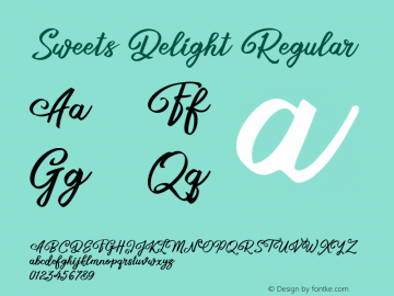 Sweets Delight Version 1.102;Fontself Maker 3.5.1图片样张