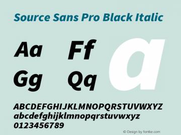 Source Sans Pro Black Italic Version 1.050;PS Version 1.000;hotconv 1.0.70;makeotf.lib2.5.5900图片样张