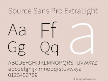 Source Sans Pro ExtraLight Regular Version 1.050;PS Version 1.000;hotconv 1.0.70;makeotf.lib2.5.5900图片样张