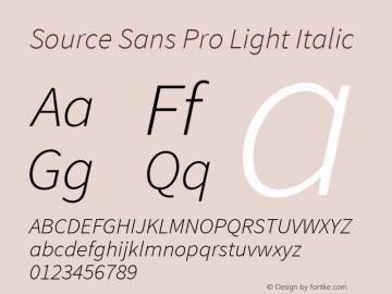 Source Sans Pro Light Italic Version 1.050;PS Version 1.000;hotconv 1.0.70;makeotf.lib2.5.5900图片样张