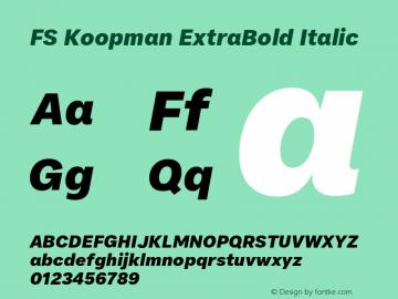 FSKoopmanExtraBoldItalic Version 1.001; ttfautohint (v1.8)图片样张