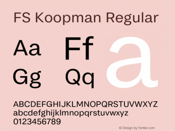 FSKoopman-Regular Version 1.001; ttfautohint (v1.8)图片样张