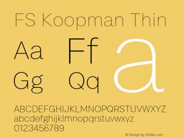 FSKoopmanThin Version 1.001; ttfautohint (v1.8)图片样张