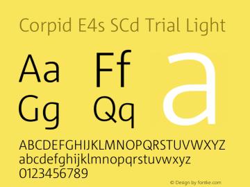 Corpid SemiCondensed Light Version 2.001图片样张