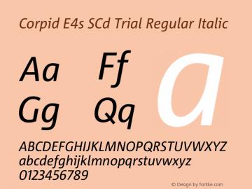 Corpid SemiCondensed Italic Version 2.001图片样张