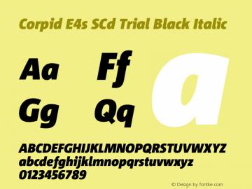 Corpid SemiCondensed Black Italic Version 2.001图片样张