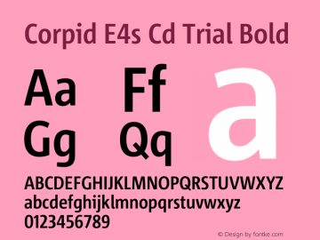 Corpid Condensed Bold Version 2.001图片样张
