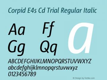 Corpid Condensed Italic Version 2.001图片样张