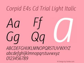 Corpid Condensed Light Italic Version 2.001图片样张