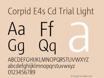 Corpid Condensed Light Version 2.001图片样张