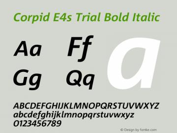 Corpid Bold Italic Version 2.001图片样张