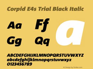 Corpid Black Italic Version 2.001图片样张