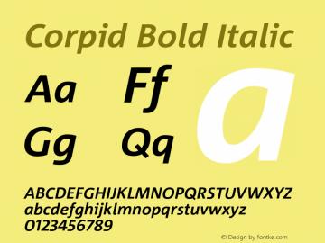 Corpid-BoldItalic Version 2.001图片样张