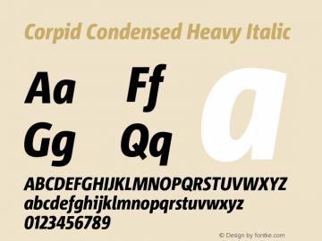 CorpidCondensed-HeavyItalic Version 2.001图片样张