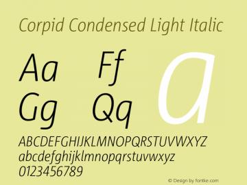 CorpidCondensed-LightItalic Version 2.001图片样张