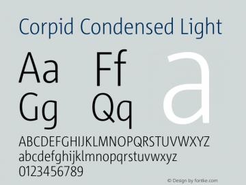 CorpidCondensed-Light Version 2.001图片样张