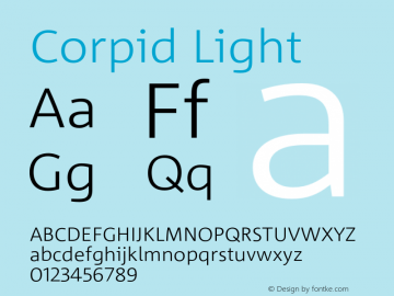 Corpid-Light Version 2.001图片样张