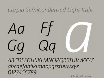 CorpidSemiCondensed-LightIta Version 2.001图片样张