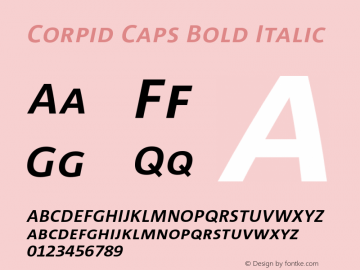 CorpidCaps-BoldItalic 001.072图片样张