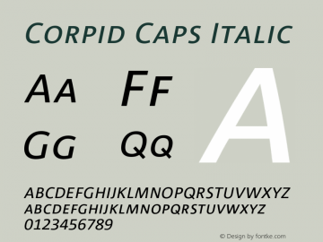 CorpidCaps-Italic 001.072图片样张
