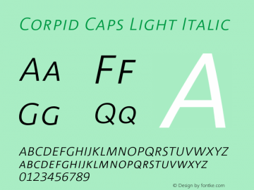 CorpidCaps-LightItalic 001.072图片样张