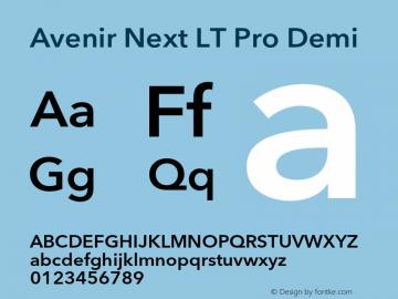 AvenirNextLTPro-Demi Version 3.000图片样张