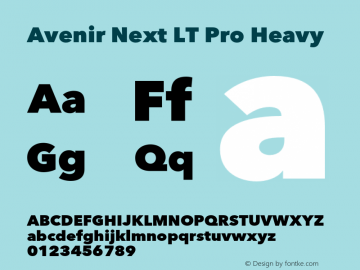 AvenirNextLTPro-Heavy Version 3.000图片样张