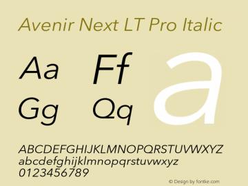 AvenirNextLTPro-It Version 3.000图片样张