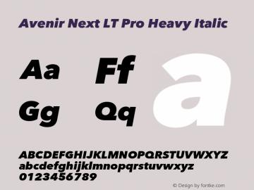 AvenirNextLTPro-HeavyIt Version 3.000图片样张
