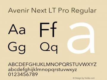 AvenirNextLTPro-Regular Version 3.000图片样张