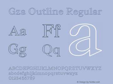 Gza-OutlineRegular Version 1.000;PS 001.000;hotconv 1.0.88;makeotf.lib2.5.64775图片样张