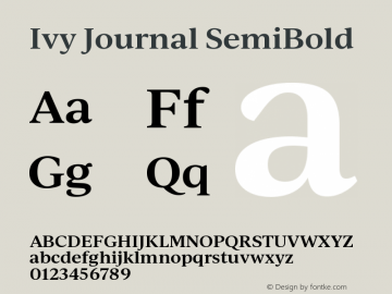 IvyJournal-SemiBold Version 1.001图片样张