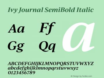IvyJournal-SemiBoldItalic Version 1.001图片样张