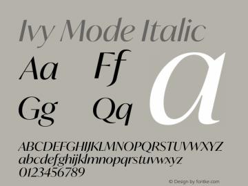 IvyMode-Italic Version 1.001图片样张