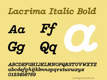 Lacrima Italic Bold Version 3.001 | wf-rip DC20190405图片样张