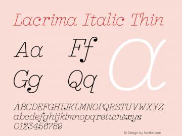 Lacrima Italic Thin Version 3.001 | wf-rip DC20190405图片样张