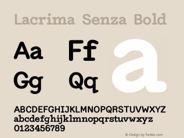 Lacrima Senza Bold Version 3.001 | wf-rip DC20190405图片样张