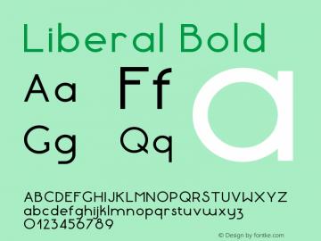 Liberal-Bold Version 1.000 | wf-rip DC20180130图片样张