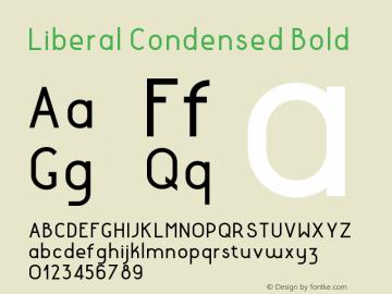 LiberalCondensed-Bold Version 1.000 | wf-rip DC20180130图片样张