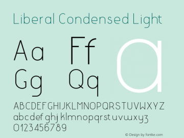 LiberalCondensed-Light Version 1.000 | wf-rip DC20180130图片样张