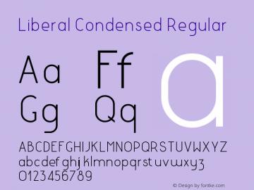 LiberalCondensed-Regular Version 1.000 | wf-rip DC20180130图片样张