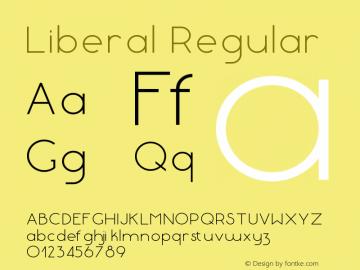 Liberal-Regular Version 1.000 | wf-rip DC20180130图片样张