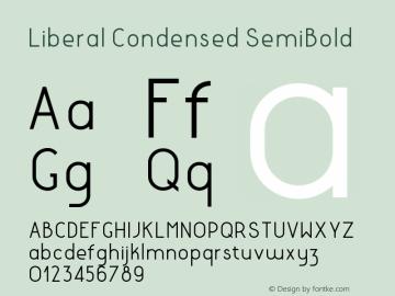 LiberalCondensed-SemiBold Version 1.000 | wf-rip DC20180130图片样张