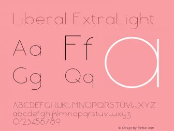 Liberal-ExtraLight Version 1.000 | wf-rip DC20180130图片样张